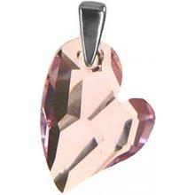 Argento Strieborný prívesok so Swarovski elements rosaline Srdiečko 17m  8318500 deb4c5c0d94