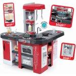 Smoby kuchynka elektronická Tefal Studio XXL s 38 doplnkami 311025 červená