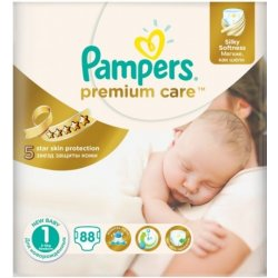 Pampers Premium Care 1 NEWBORN 88ks 2-5kg