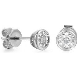 iZlato Design diamantové napichovacie náušnice z bieleho zlata IZBR620AN 3435781b6b8