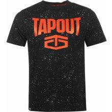 Tapout Splatter T Shirt Mens Black