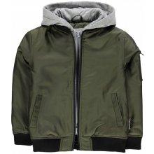 Lee Cooper Hooded Bomber Jacket Junior khaki