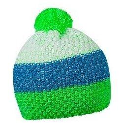 27fbe375e51b7 HORTON zimná čiapka s brmbolcom, sv.zelená/tyrkys./biela alternatívy ...