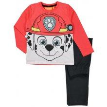 E plus M Chlapčenské pyžamo Paw Patrol červeno-čierne