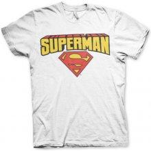 AB Pánske tričko Superman Blockletter Logo Biela 082b6ba370