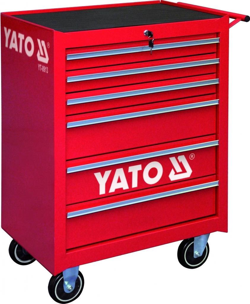 58f32836c60de YATO Skrinka dielenská pojazdná 6 zásuviek červená od 275,80 € - Heureka.sk