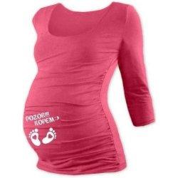 b13274cba7d7 tehotenské tričko s potlačou 3 4 rukáv losos od 19
