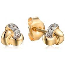 iZlato Design zlaté náušnice s diamantmi uzlíky IZBR531N bf1028b3051