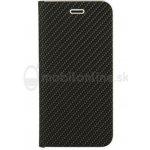 Púzdro Vennus Carbon Book Huawei P20 Lite - čierne