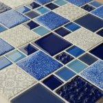 MOSAGRES MSS004 Mozaika sklo Multimix Vintage 300x300x6mm modrá