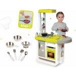 Smoby Set detská kuchynka elektronická Cherry so zvukmi+riad pochrómovaný 7 dielov 310908-16