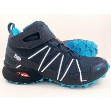 Pánska trailová obuv 2919M9 Sivá / Modrá