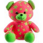 Teddies Medvedík svietiace v tme ružovo zelený