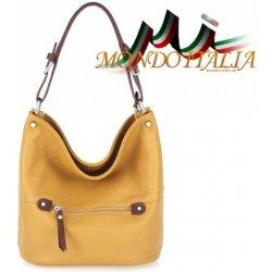 de18b714512b Made In Italy kožená kabelka na rameno 631 okrová od 58