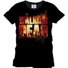 Walking Dead Burning Logo T Shirt