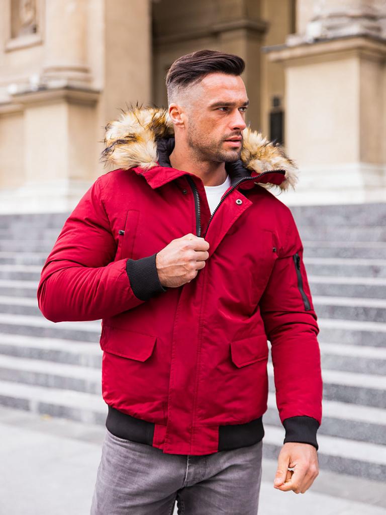 Filtrovanie ponúk pánska bordová zimná bunda s kapucňou a hnedou kožušinou  - Heureka.sk 8388d618d57