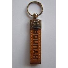 Prívesok na kľúče koženková Hyundai(hnedá)