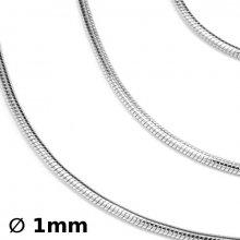 Strieborné retiazky hádok 1mm - 5060-09BG