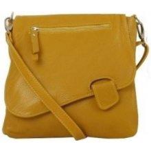 d4376072e0a2a Talianske dámske kožené kabelky dámske cez rameno stredné žlté Olina
