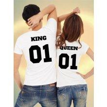 Tričká pre páry King 01 & Queen 01