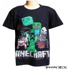Tričko detské Minecraft čierne YC150