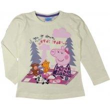 E plus M Dievčenské tričko Peppa Pig - biele
