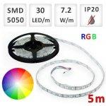 Optonica 5m bal. RGB LED pásik do interiéru 30 SMD5050 7.2W/m IP20