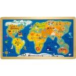 Small Foot vkladacie puzzle veľká mapa sveta