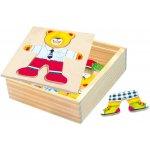 Bino 88047 Puzzle Šatníková skriňa medvedík