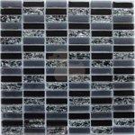 Premium Mosaic Mozaika čierna crashed 1,5x4,8 cm