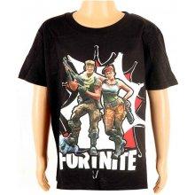 Detské tričko Fortnite čierne