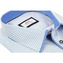 aedc54452862 Beva Fashion košeľa s modrým vzorom kr. rukáv Biela