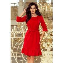 5426bcf94834 NUMOCO Romantické šaty s volánom 193-6 MAYA - červené Červená
