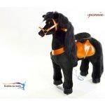 Ponnie Jazdiace kôň Black Horse pre jazdce do 40 kg 80x35x93 cm