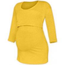 tričko na dojčenie Katka 3/4 rukáv žlté