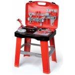 SMOBY 500240 Black & Decker READY2GO pracovný stôl skladací + 25 doplnkov do kufrika, 43*35*77 cm