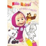 autor neuvedený - Máša a medveď - Vyfarbuj a nalepuj