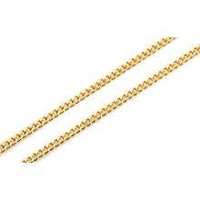 Zlatá pánska retiazka na krk CURB 55 cm 9IZ036