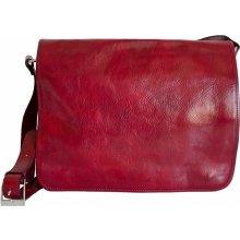 Made In Italy kabela pánska kožená taška 7012 bordová 8cfdac36dc5