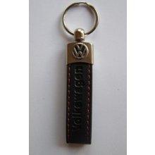 Prívesok na kľúče koženková Volkswagen(čierna)
