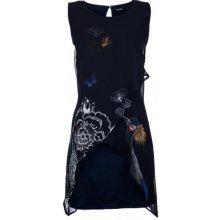 Desigual Krátke šaty POELFDE Modrá a5e25ce7ff9