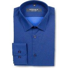 Stevula vzorovaná pánska košeľa Tmavomodrá 22409a65fd5