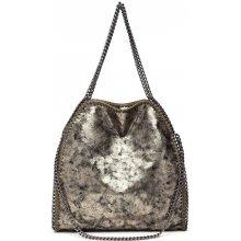 Miss Lulu Veľká dámska kabelka s retiazkami zlatá 26a8a2af071