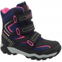 ALPINE PRO Dievčenské vysoké zimné topánky Dairo modro-ružové