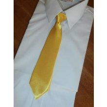 žltá detská kravata