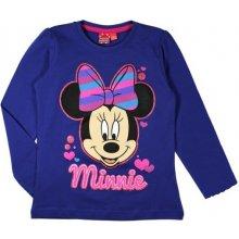 E plus M Dievčenské tričko Minnie - modré