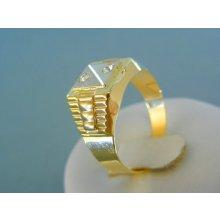 MARM Design Zlatý pánsky prsteň žlté biele zlato zirkóny DP63507V 7436e588d6c