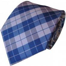 N.Ties Modro-bílá kravata se vzorem z mikrofáze