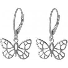 8b044f49b Argento strieborné náušnice motýľ 6520400