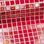 SAPHO EZARRI METAL oxidu plato sklenenej mozaiky 2,5 x2, 5cm; 0,155 m2 RUBI